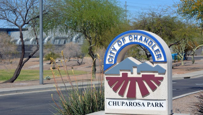 Behind Chandler's Chuparosa Park is the Cyrus One data center. Its industrial air-conditioning units create a humming noise that annoys nearby residents.
