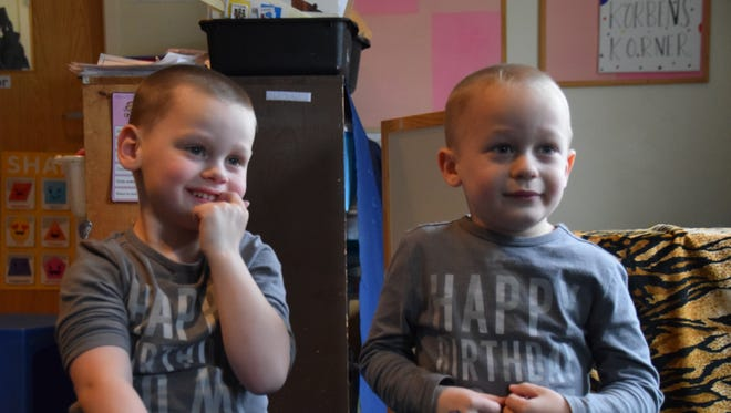 The Francis twins will lead annual Autism Awareness walk with their mother. Keegan is on the left and Aiden on the right.