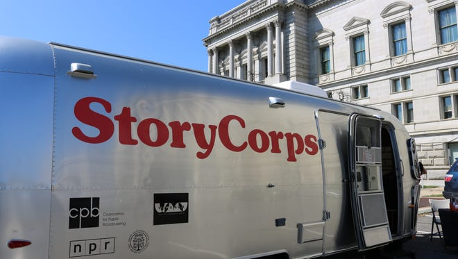 This mobile StoryCorps recording booth will be swinging through Fort Collins to record local stories.