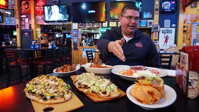 Owner Jim Watson talks about some of the newer items on The Barn's menu, including wraps and flatbreads.