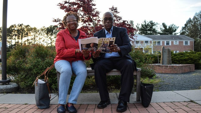 Delaware natives Brenda Milbourne and Diaz Bonville attended the Georgetown commemoration of the Memorial of Peace and Justice, dedicated to 4,400 documented victims of terror lynchings in the United States.