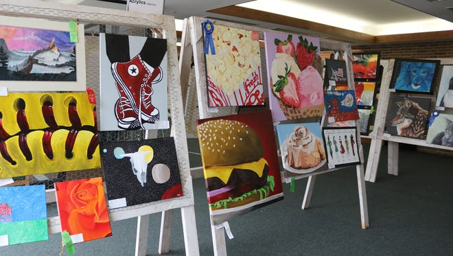 Students from a total of 20 schools participated in the 51st annual Five-County Invitational Art Show at Oak Harbor High School this past weekend.