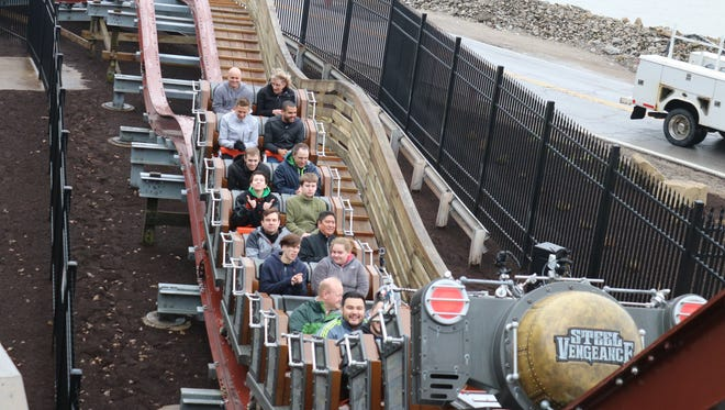 Cedar Point's new record-breaking hybrid roller coaster Steel Vengeance opened to the public on Saturday but was shut down for about eight hours after a mishap.