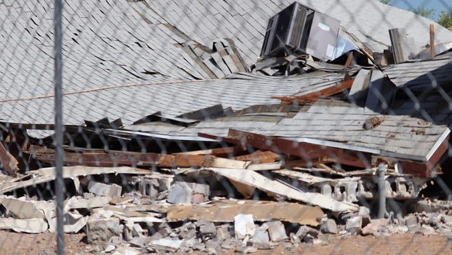Debris left behind of a church located near 13th Avenue and Tonto Street that collapsed May 23, 2018.
