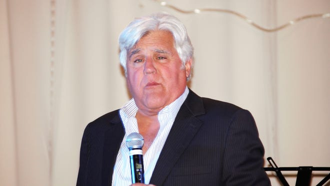 Jay Leno performs at a the Lee Blohm Golf Tournament, at Riverside Country Club in Carlsbad.