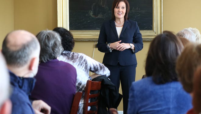 Gubernatorial candidate Mary Taylor made a campaign stop in Port Clinton on Monday, touting her plan for Ohio.