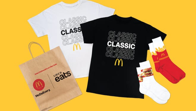 Items from the McDonald's Throwback Collection.