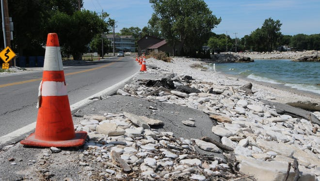 Portions of Ohio 163 near Cottage Cove in Marblehead will be undergoing repairs beginning next week after being battered by strong storms in the spring, destroying a bike path and undermining the road.