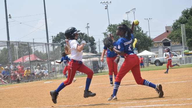Dixie Softball World Series held Saturday, July, 28, 2018 at the Alexandria Youth Complex. Alexandria is hosting all nine divisions of Dixie Softball's World Series from July 28-Aug. 1.About 95 teams from 10 states are playing at Johnny Downs Sportsplex and the Alexandria Youth Complex. Johnny Downs will host the Angels X-Play, Belles, Debs and Ponytails X-Play tournaments. The Angels Traditional, Darlings, Ponytail Traditional, SweeTees Traditional and SweeTees X-Play brackets will play out at the Alexandria Youth Complex.