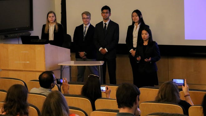 Research project presentations by New Jersey high school students attending the state's Governor's School of Engineering and Technology at Rutgers University–New Brunswick amaze audiences on July 27 from 11 a.m. to 2 p.m. on the Rutgers campus.