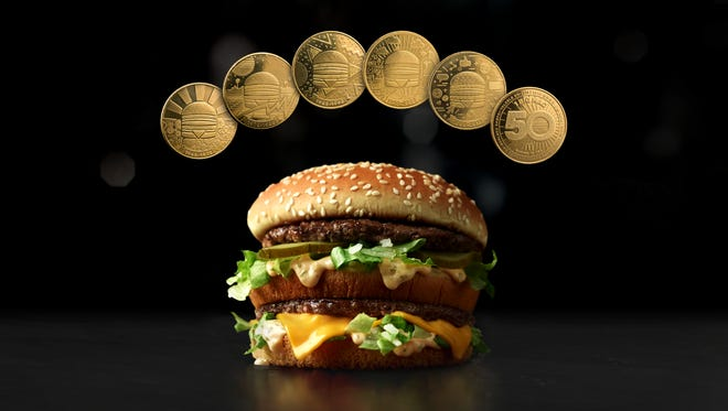 McDonald's unveiled the MacCoin to honor the Big Mac.