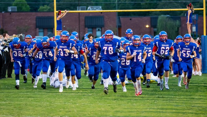 Harpeth takes the field against Clarksville Academy.