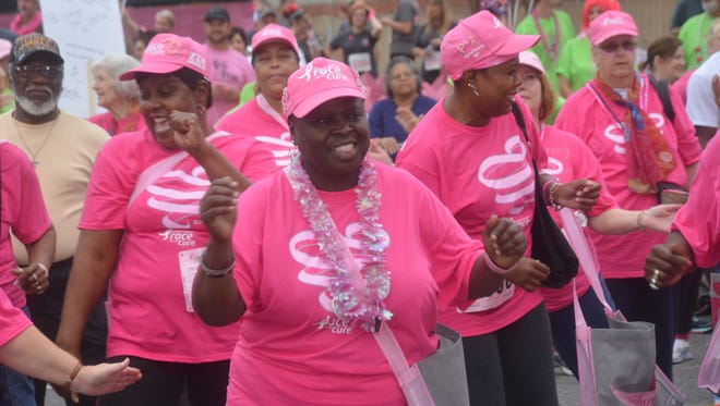 The 5th annual CenLa Komen Race for the Cure held Saturday, Oct. 11, 2014 in downtown Alexandria.