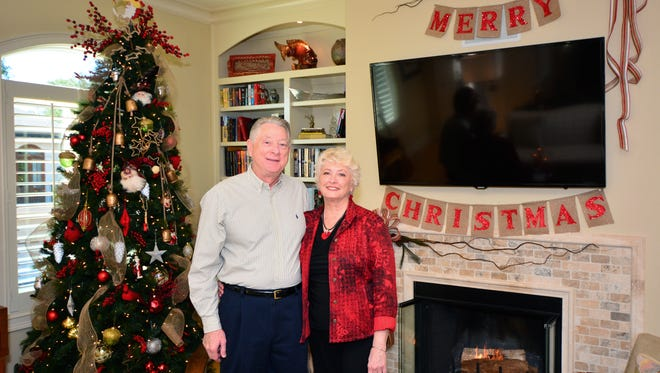 Richard and Linda are in the Christmas spirit.