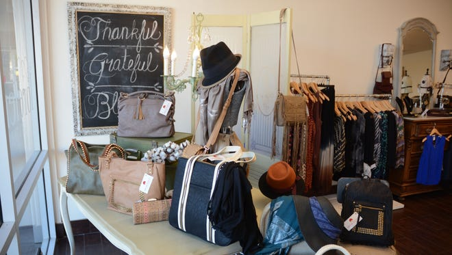 Lorelei Boutique, at McClintock Drive and Guadalupe Road in Tempe. The shop specializes in women's clothing and accessories.