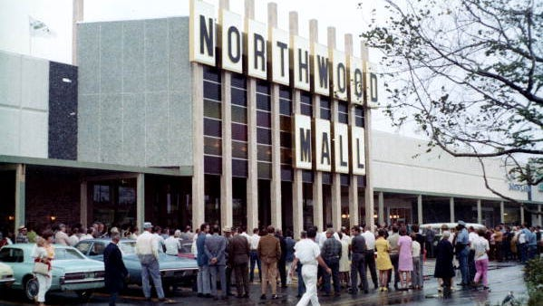 Northwood Mall on opening day, Sept. 30, 1969.