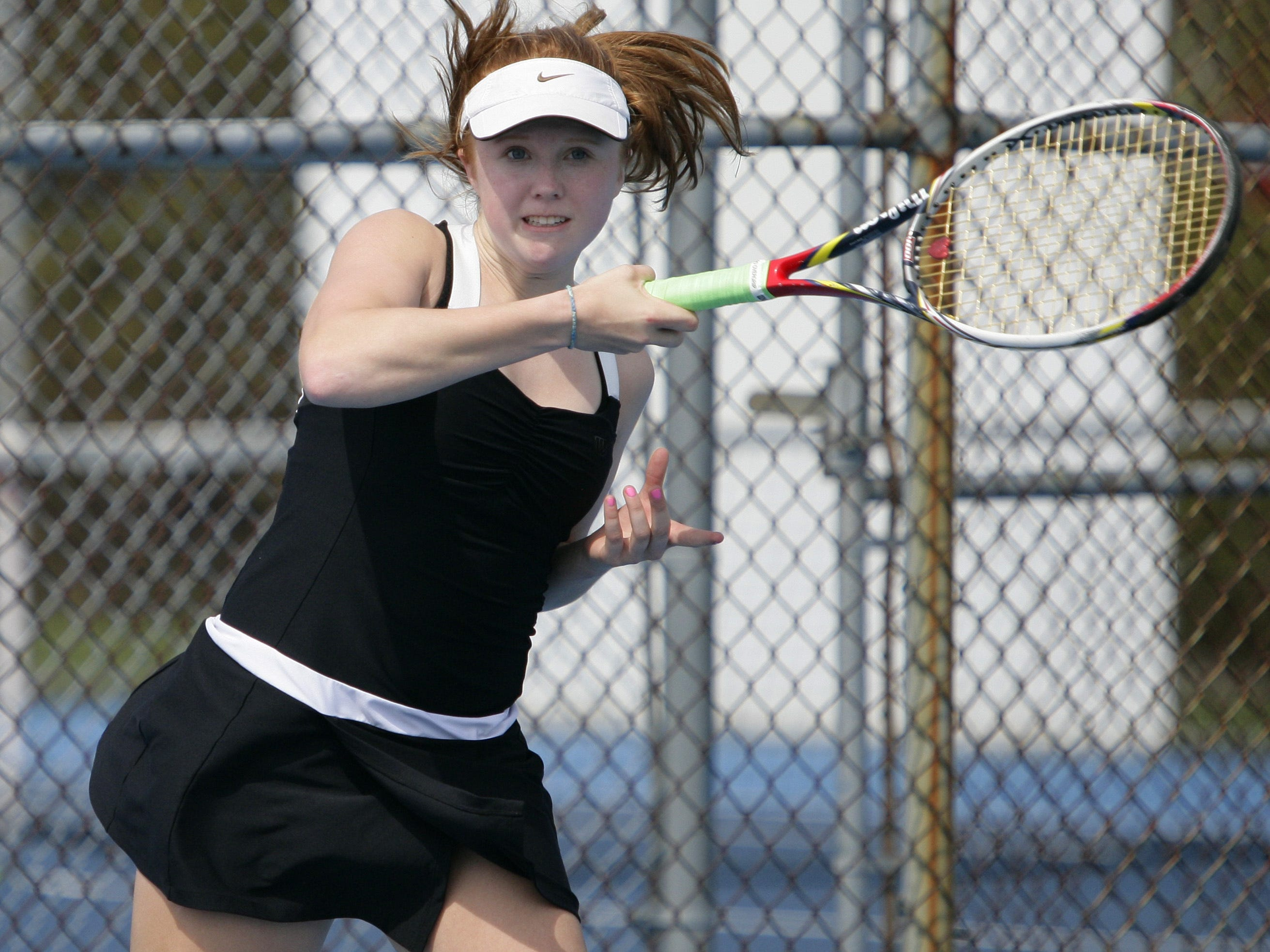 Williamston's Sara Daavettila is in the midst of pursuing her second straight Division 3 No. 1 singles championship.