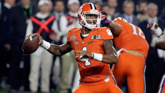 Clemson junior quarterback Deshaun Watson's arm can