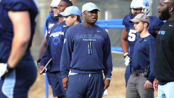 North Carolina running backs coach Larry Porter has
