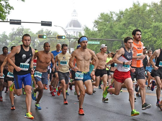 Runners take part in the Springtime Tallahassee 10K