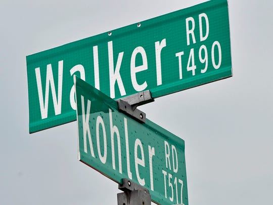 Greene Township has plans to rezone the area at Kohler and Walker roads in Chambersburg, seen Monday, April 4, 2016.