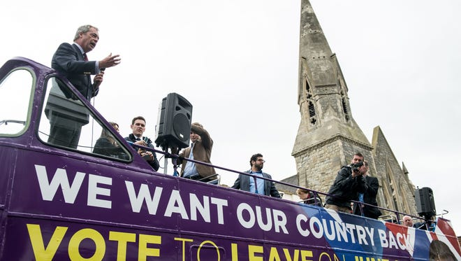 "Voters backing a British exit from the European Union have pulled ahead of ""stay"" votes, according to some polls."