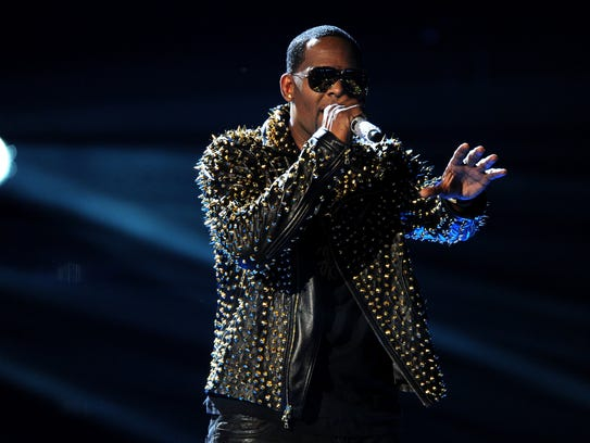R. Kelly performs onstage at the BET Awards at the
