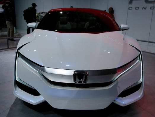 Honda FCV Concept car on display during the 2015 North