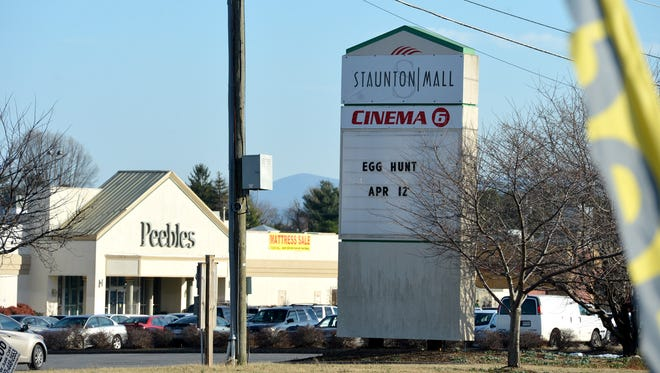 The cinema, with signage photographed in 2014, is among the empty spots at the Staunton Mall.
