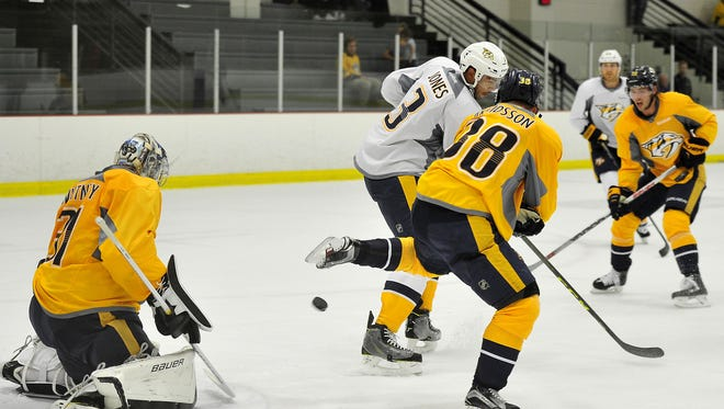 The Predators' lineup is nearing completion with the season opener less than a week away.
