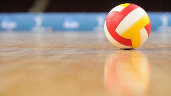 Alamogordo Daily News Volleyball Stock Photo.