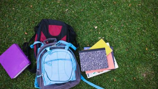 Books and backpacks.