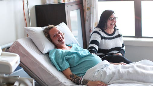 Hanover hospital is now offering laughing gas to women in labor.
