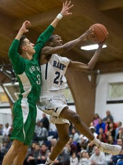 Ranney's Scottie Lewis (24) goes to the hoop.