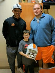Dane Kelly, the 8-year old son of Jackie Kelly, a Vols fan with cancer, got to meet Tennessee quarterback Joshua Dobbs and offensive lineman Brett Kendrick last week.