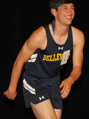 Kyle Walsh helped Belleville set a school record in the sprint medley.