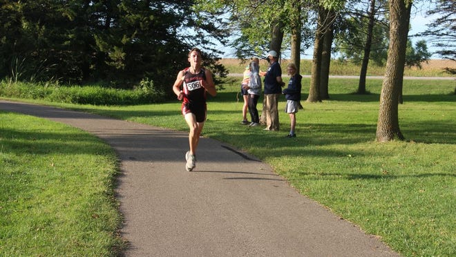 Caleb Rivera led from the start of Thursday's meet in Butterfield and never looked back, clinching his third consecutive first place finish.