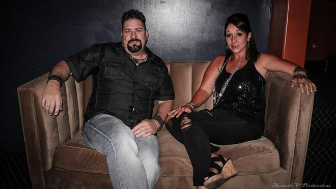 From left, Kirk Russell and Ebony Deschaine pose together. The two popular band performers have formed a singing duo that will perform at the Regent Theater at 9 p.m., July 11.