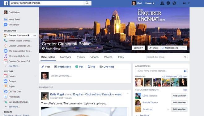 Greater Cincinnati Politics Facebook Group