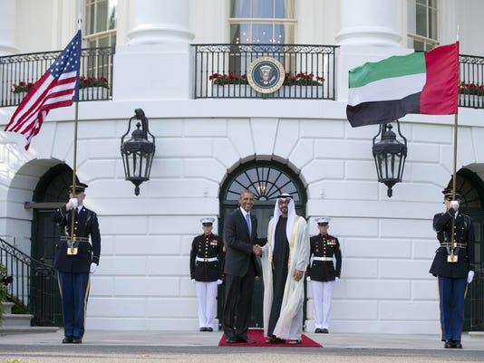 Barack Obama, Sheikh Mohamed bin Zayed Al Nahyan