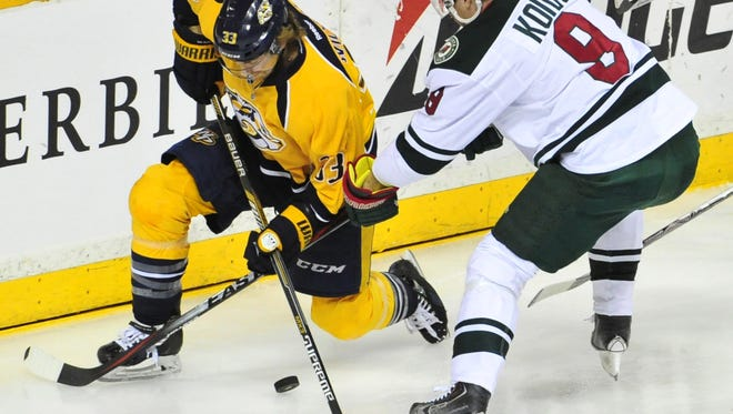 Nashville Predators forward Colin Wilson did not practice Friday with a lower-body injury.