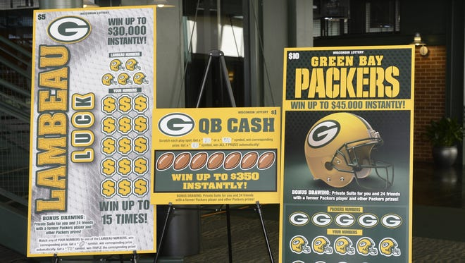 Wisconsin Lottery will offer three Packers-related scratch-off games this year, for $1, $5 and $10 per ticket.