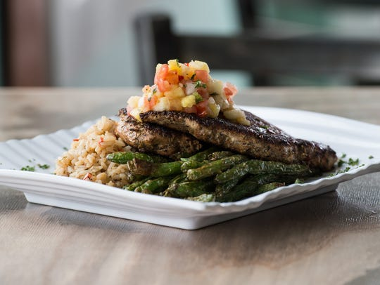 The Jerk Chicken at Ropewalk Chincoteague on Thursday,