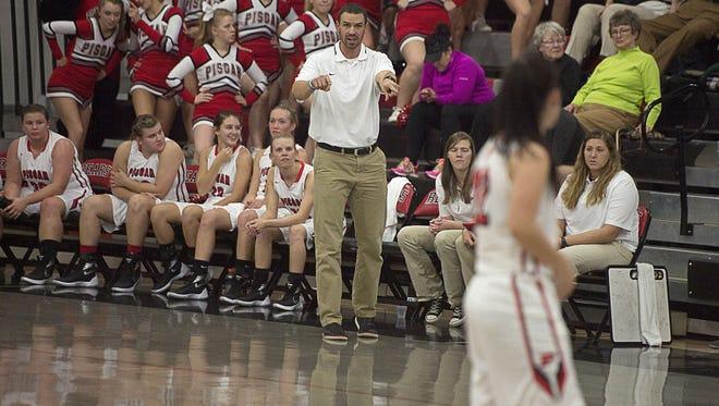 Pisgah girls basketball coach Brandon Holloway.