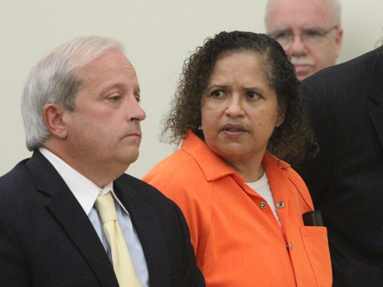 Diana Nadell at her sentencing for her mother-in-law's