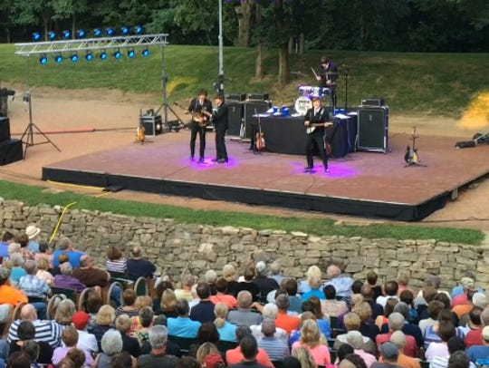 A concert at Tippecanoe County Amphitheater.
