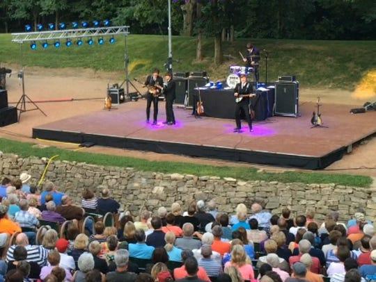 A concert at Tippecanoe County Amphitheater.