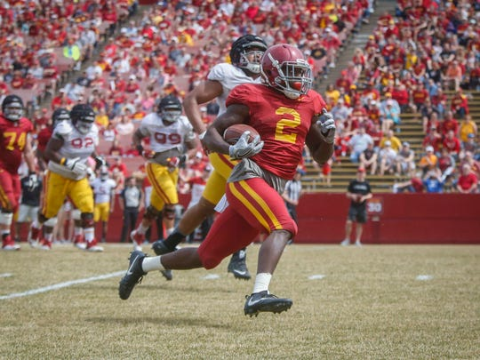 Iowa State running back Mike Warren is in a battle heading into August for the No. 2 spot on the depth chart.