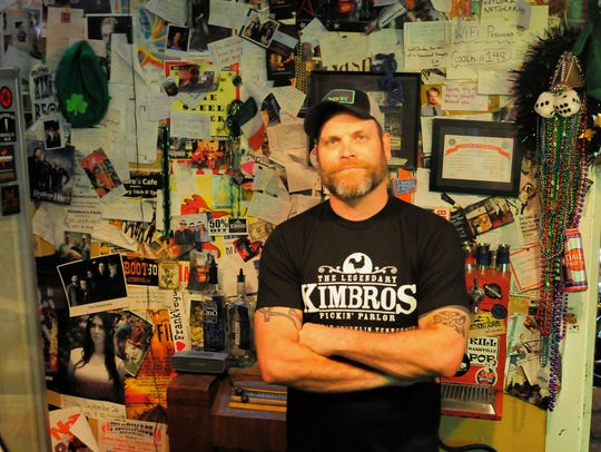 Will Jordan, owner of Kimbros Pickin' Parlor in Franklin,