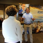 Small Business Week, a national occasion for education and celebration, features many events organized by the Asheville Area Chamber of Commerce. Josh Dorfman, pictured here, talks with colleagues at the Montford Avenue location.